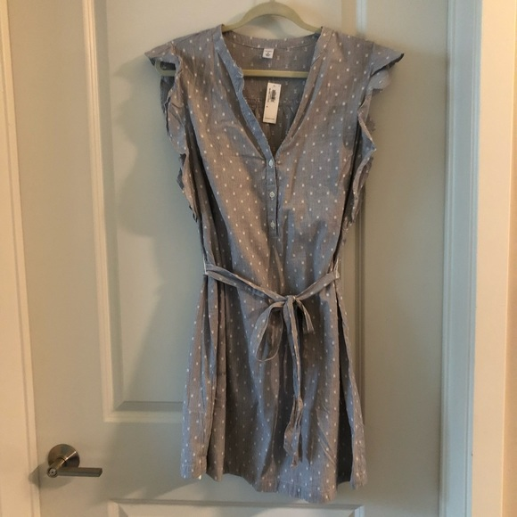 Old Navy Dresses & Skirts - Old navy NWT blue and white dress medium